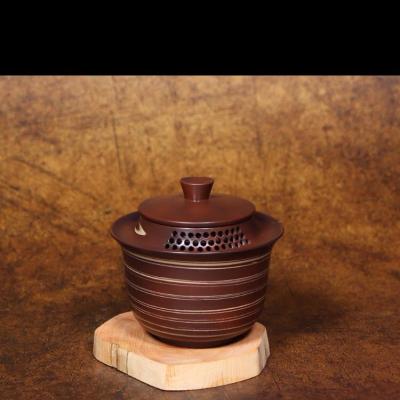 云南建水紫陶茶壶纯手工泡茶壶非紫砂壶茶具家用刻填工艺陶壶聚香