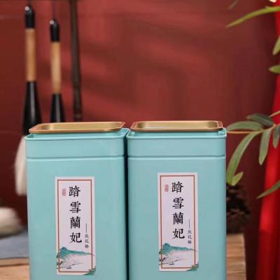 2021新茶蒙顶碧池踏雪花茶兰妃茶兰香礼盒罐装特级浓香兰花茶叶500g