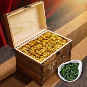 【铁观音木质礼盒装】送礼500g茶叶浓香型乌龙茶高山新茶小包袋装