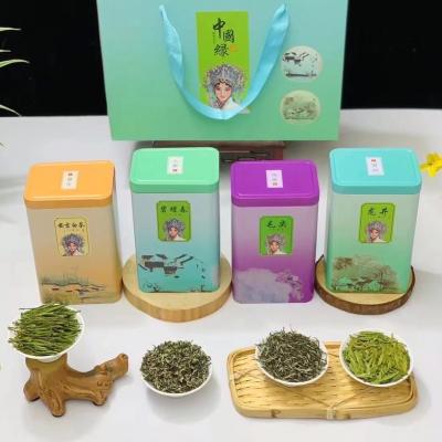 四大绿茶龙井茶安吉白茶毛尖茶碧螺春茶2021新茶浓香型500g
