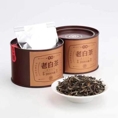 六妙年份白茶2006年一级白牡丹正宗福鼎老白茶福建散茶叶罐装36g