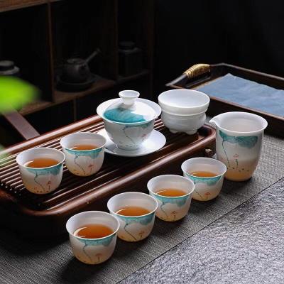 玉瓷茶具套装/古典茶具套装/陶瓷茶具套装/茶具退换货来回邮费请自理