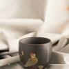 保山特色茶具套装 元素:高黎贡山保护区鸟类 工艺:阴刻阳填、无釉抛光