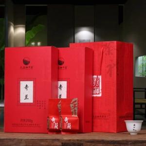 奇兰茶叶 武夷岩茶 大红袍礼盒装 武夷山乌龙茶 买一送一共500g