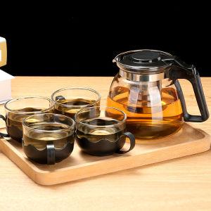 麦尔思 1000ML茶壶4茶杯飘逸杯泡茶壶玻璃耐热