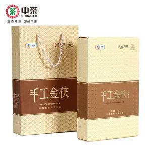 中茶茶叶湖南安化黑茶3年陈金花茯砖手工金茯1kg 中粮出品
