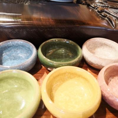 品茗杯六个,不同色
