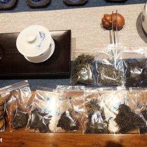 茶样10种。五大茶类随机。绿茶,白茶,乌龙茶,红茶,黑茶