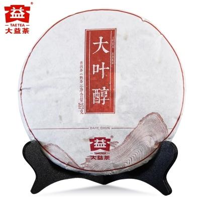 大益普洱茶2014年1401批 大叶醇357g熟茶饼