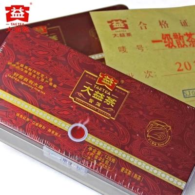 大益普洱2018年一级散茶  熟茶散茶袋装茶25袋/盒  铁盒装