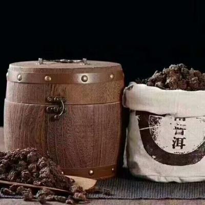 普洱老茶头,汤色红亮,口感醇厚,一桶500g