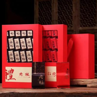 买一送一共2盒 武夷山原厂地 肉桂 大红袍 武夷岩茶组合 茶叶礼盒。