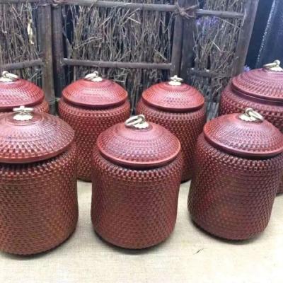 名称:赞比亚紫檀茶叶罐14/11一个