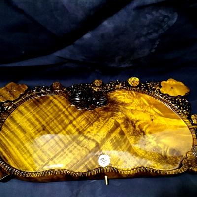 名称: 金丝楠实木茶盘 79-38-4.5cm多款式