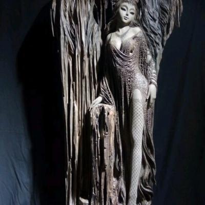 国手级大师新作《海的女儿》:美女阴沉木 167-61-73