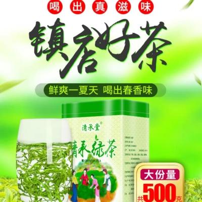 茶叶2021新茶毛尖绿茶浓香高山云雾散装绿茶嫩芽春茶共500g