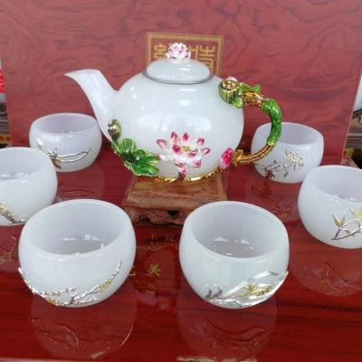 天然玉茶具
