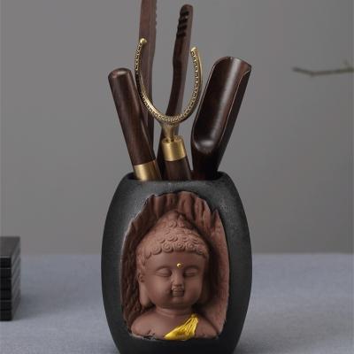 小和尚茶宠茶道配件零配家用功夫茶具泡茶工具整套六君子茶道组合