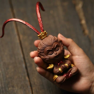 紫砂茶宠茶桌茶具摆件个性禅意悟空茶台饰品创意齐天大圣茶玩配件