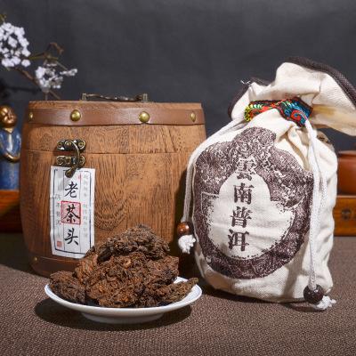 2013年普洱茶熟茶 老茶头  勐海古树老茶头500g木桶装老茶头