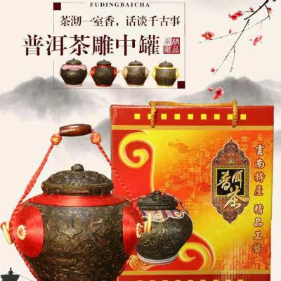 云南工艺茶摆件 茶叶罐 普洱茶雕工艺品 厂家供应 小罐子现货 普洱茶品