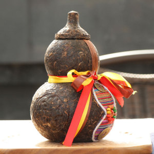 普洱工艺立体茶雕 葫芦摆件 普洱工艺茶摆件系列盒装礼品茶雕工艺品茶叶