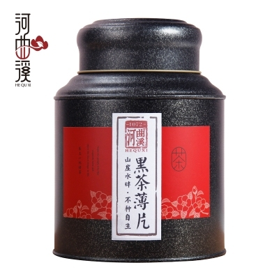 【河曲溪】湖南特产安化黑茶陈茶黑茶薄片茶叶500g (偏远地区不包邮)