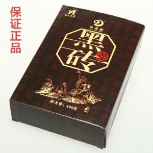 华莱安化黑茶正品华莱健小黑砖茶官方陈年黑砖茶400g野山茶