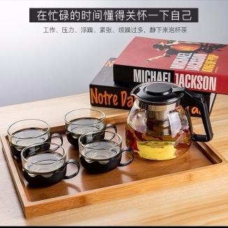 耐热防爆玻璃2000ml送四杯大容量功夫茶水壶(偏远地区不包邮)
