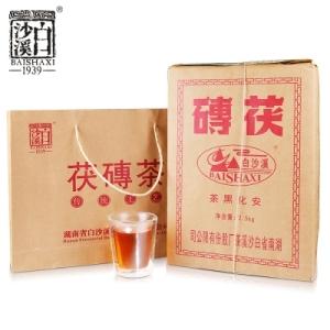黑茶湖南黑茶2019白沙溪手筑茯砖金花茯茶2.5公斤(偏远地区不包邮)