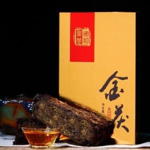 湖南黑茶 陈年茯砖金花手筑茯砖1000g品质保证 (偏远地区不包邮)