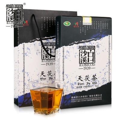 湖南黑茶白沙溪1939天茯茶1kg金花茯砖2019(偏远地区不包邮)
