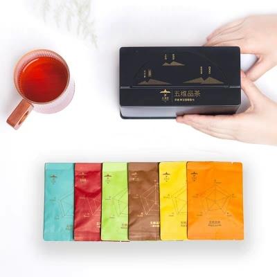 小茶匠茶叶红茶绿茶乌龙茶茶包6种茗茶18种口味组合装五维品茶