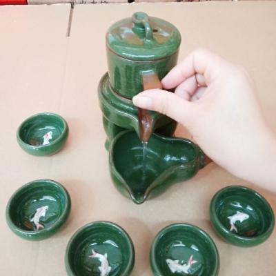 冰裂釉全半自动功夫茶具整套装懒人冲茶器陶瓷
