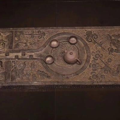兽头茶台长1米 宽40  厚5公分