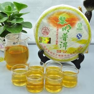 海投茶叶普洱茶2007年八角亭黎明普洱 生茶357克(偏远地区不包邮)