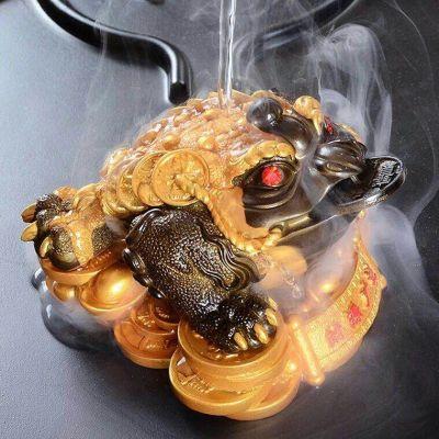 遇热变色,茶宠金蟾茶桌茶盘的最佳摆件