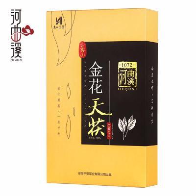 湖南安化黑茶茯砖茶特产金花天茯1kg茶叶河曲溪【偏远地区不包邮】