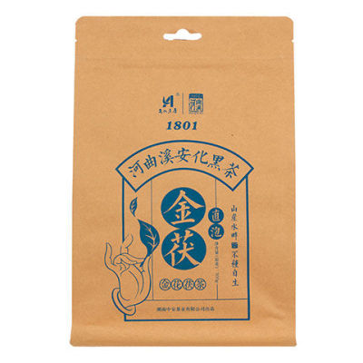 黑茶湖南安化金花茯砖特产散装茶叶茯茶 安化黑茶