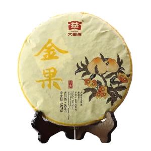 大益普洱茶熟茶357g饼茶1601批金果2年陈(偏远地区不包邮)