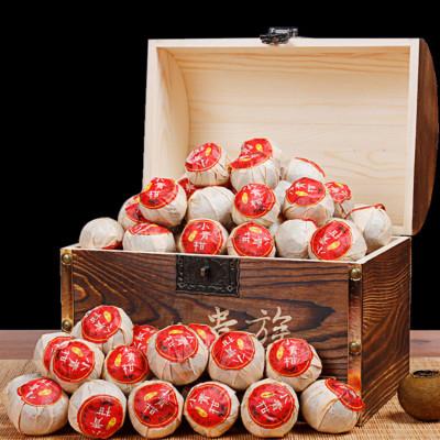茶中贵族小青柑500g/盒 小青柑一颗  小青柑普洱茶  实木装 柑香