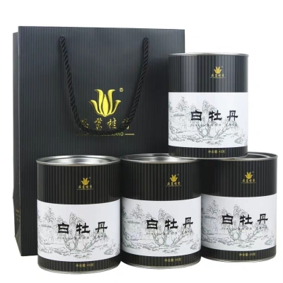 福鼎白茶2016高山明前陈年白牡丹茶叶散装罐装180克(45*4)
