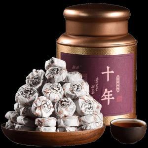 黑茶湖南安化黑茶正宗陈年老茶颗粒茶散装茶湘浓300克小沱茶安华