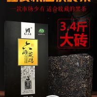 黑茶湖南安化黑茶茯砖茶正品濂溪六洞正宗金花机压茯砖茶叶1.7kg