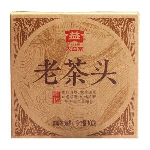 大益 2014年1401批 老茶头 砖茶 普洱茶熟茶100克勐海茶厂