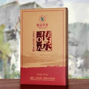 湖南黑茶湘益茯茶传承2016黑茶900g原叶金花茯砖茶限量收藏款