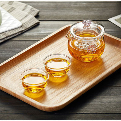 玻璃花茶壶加厚茶壶水分离泡茶器快客杯功夫茶具一壶二杯(偏远地区不包邮)