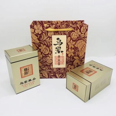 潮州凤凰单丛茶乌岽单丛茶蜜兰香熟茶高山乌龙茶铁罐礼盒装500克茶叶浓香