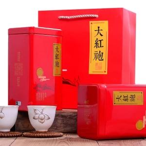 大红袍茶叶礼盒装共500g乌龙茶武夷山岩茶散装袋装罐装茶