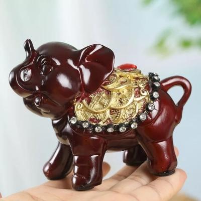 泰国小象 云南旅游纪念品 一对带礼盒   开运招财风水象摆件